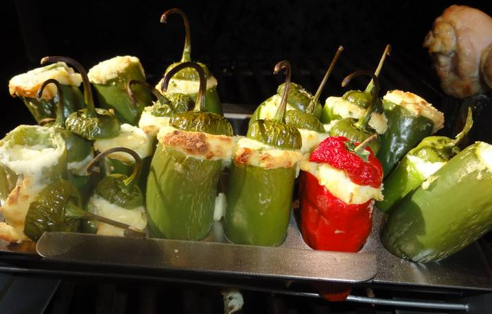 Stuffed And Grilled Jalapeno's