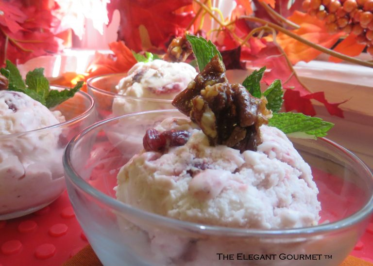 Cranberry Coconut Ice Cream