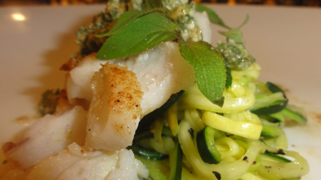 Pan-Seared Cod With Pineapple Sage Pesto