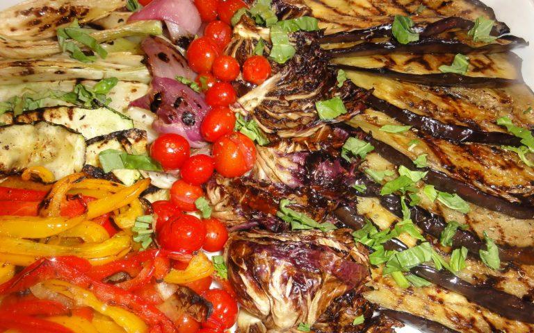 mezze grilled veggie platter
