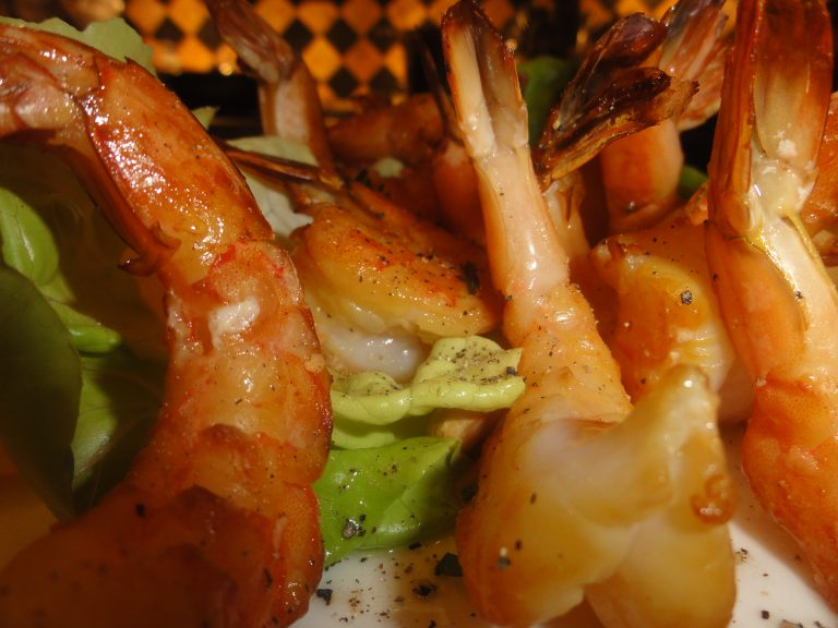 tea smoked shrimp